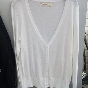 Faded Glory L/S WHITE Cardigan size XL (16-18)